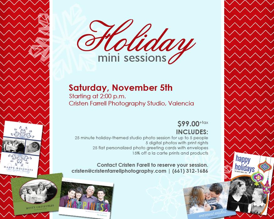 Holiday Cards & Holiday Studio Mini Sessions   Santa Clarita Photographer (1/6)